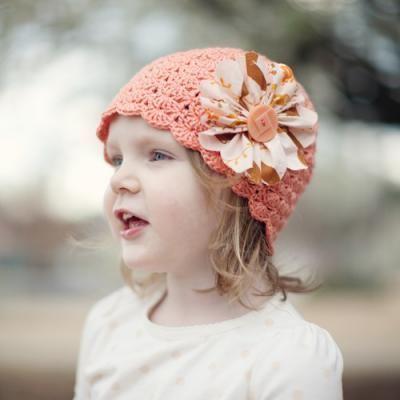 Beautiful 'Little Sisters' hat (crochet