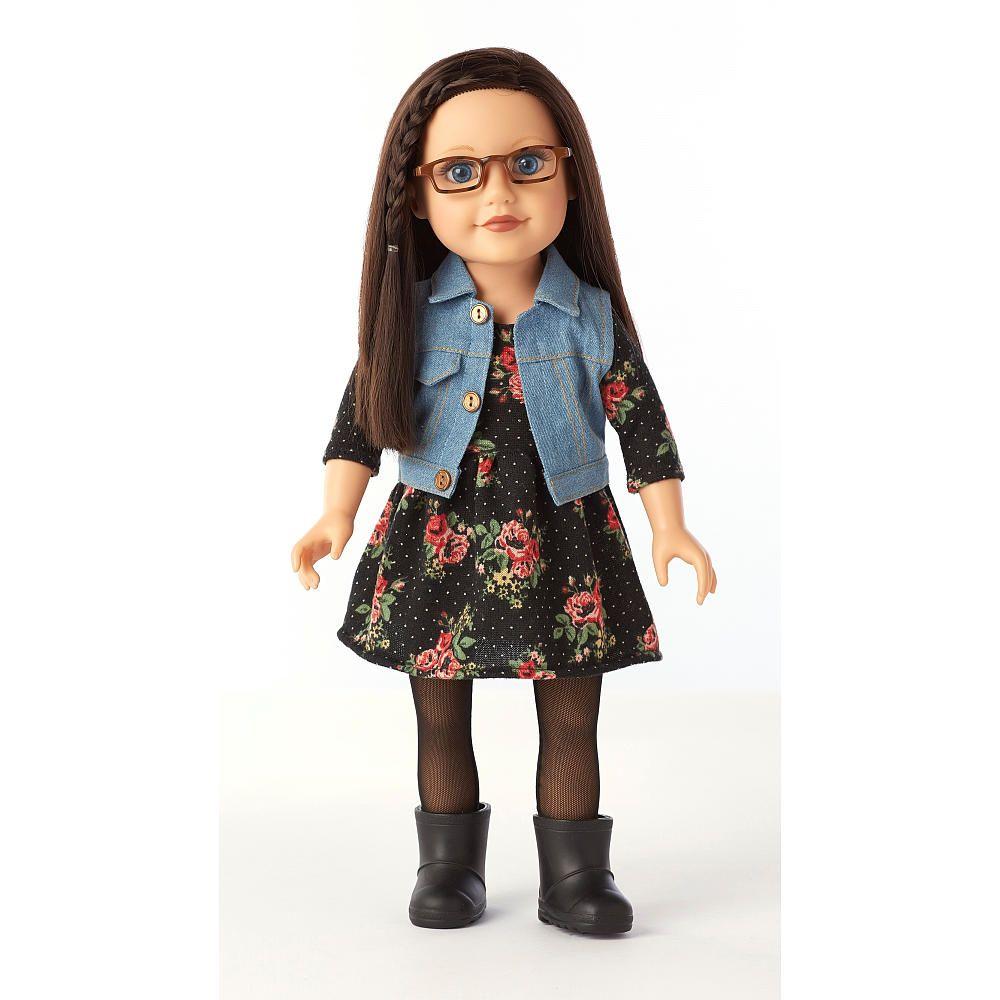 Journey Girls 18 inch Doll - Dana in Black Floral Knit Dress - Toys ...