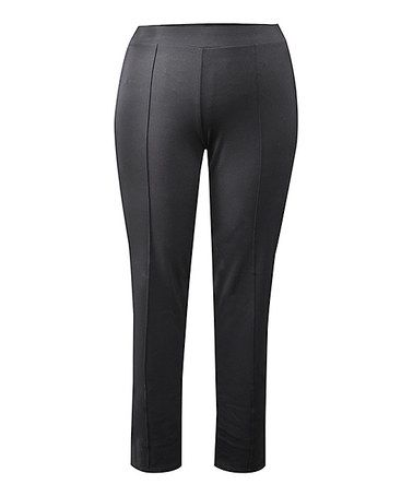 This Black Straight-Leg Pants - Plus is perfect! #zulilyfinds