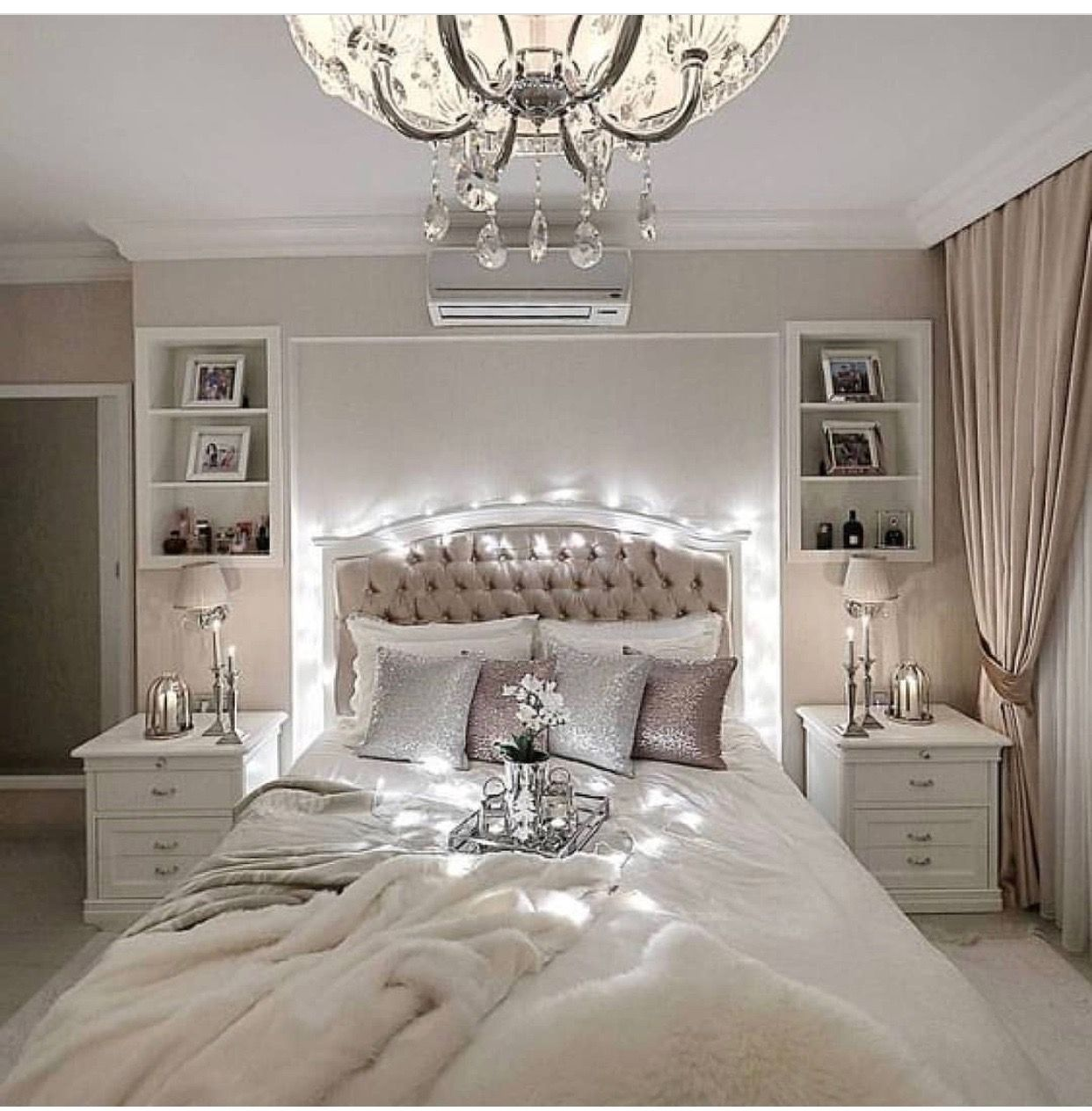 Pin On Chambre A Coucher Deco Elegant white bedroom ideas
