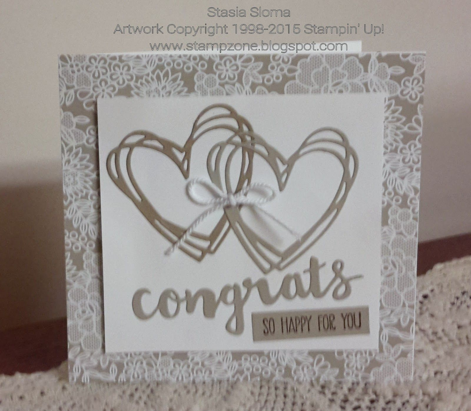 Wedding Cards Ideas: Stampin' & Scrappin' With Stasia Stampin' Up! 2016-17 Idea