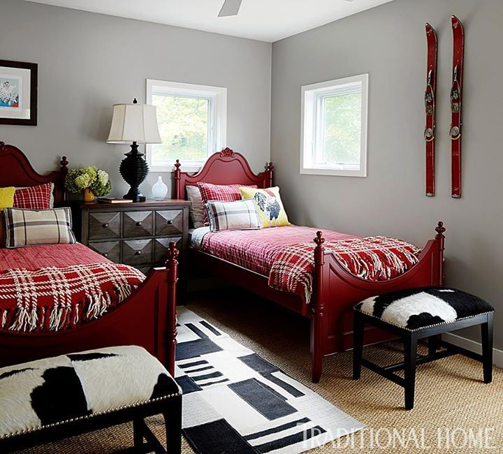 Rural Retreat With Modern Flair Twin Beds Guest Room Guest