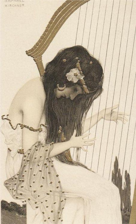 satyrica:  Raphael Kirchner - Greek Virgins, 1900