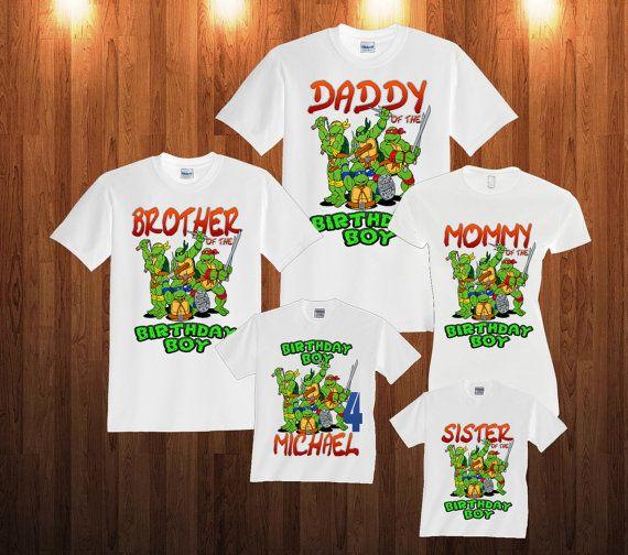 69f59a191085e TMNT Ninja Turtles Birthday Long Sleeve and Short Sleeve Shirt ...