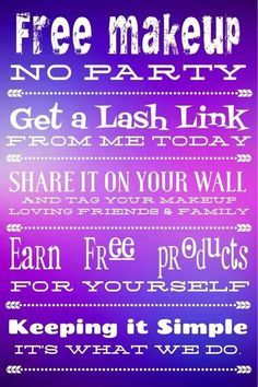 Click The link sign up for a party you have a lash link share if on your social media. no party make you some y-cash half priced items. get it ladies i know you want free makeup. those lashes need it.. and have you seen our april kudos?   #Kudos #Free #Noparty #Makeup #spain #facebook #boss #goingtothetop  http://www.youniqueproducts.com/ChantelleF/account/newparty/theme/kudos