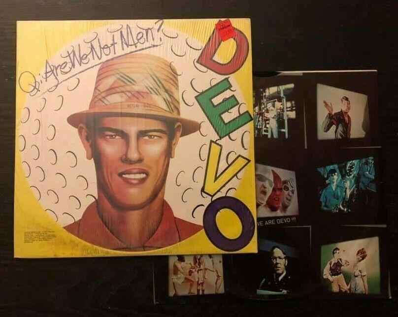 Vintage Devo Vinyl Lp Q Are We Not Men Album 1978 Original Wrap Sticker Bsk3239 Vinyl Records Music Are We Not Men Vinyl