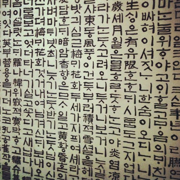 hangul (Korean writing) but I see bits of chinese in there ...
