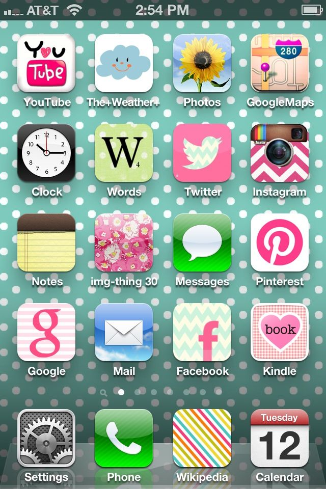 Cocoppa, shortcuts to your favorite apps. Customise all