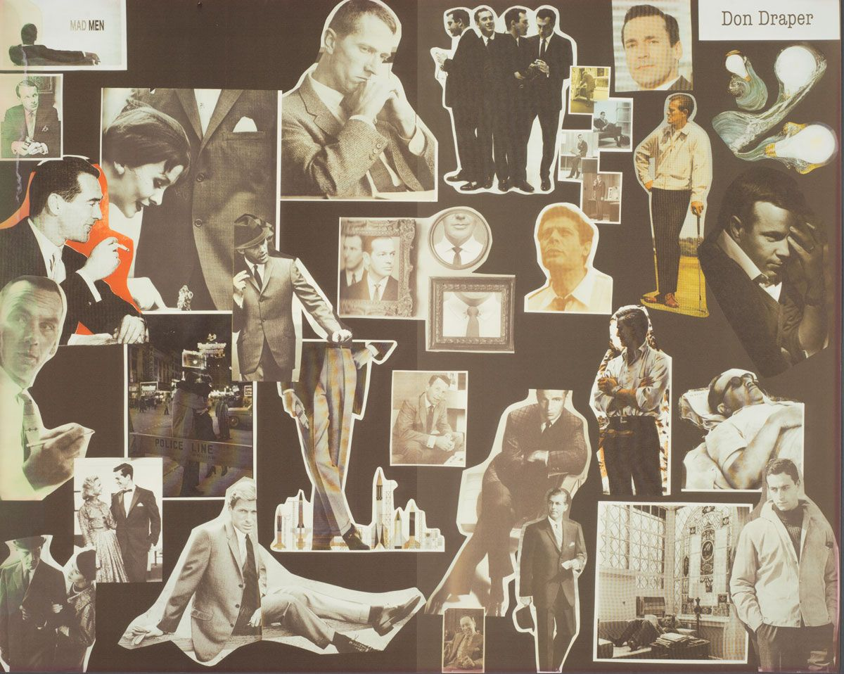 """""""Inspiration board"""" for the character of Don Draper. Photo by Pete Smith."""