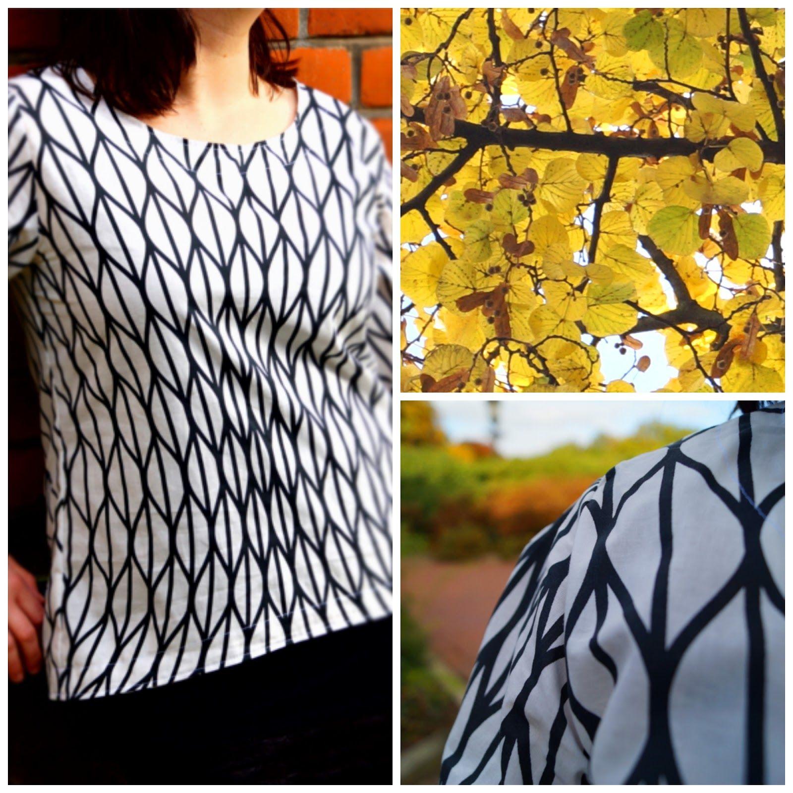 Kleine Nähigkeiten: RUMS #44/15 - Bluse Sophie ganz schlicht in schwarz und weiß