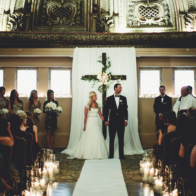 Christian Wedding Reception Ideas: The Groom Custom Made The Ceremony Cross