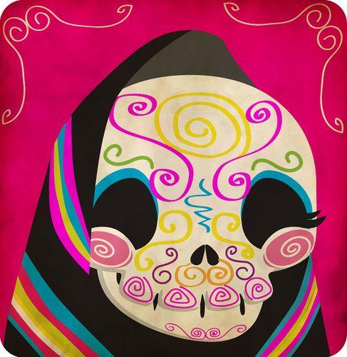 Resultado de imagen para dia de muertos ilustracion Día de muertos - 2 X 4 Label Template 10 Per Sheet