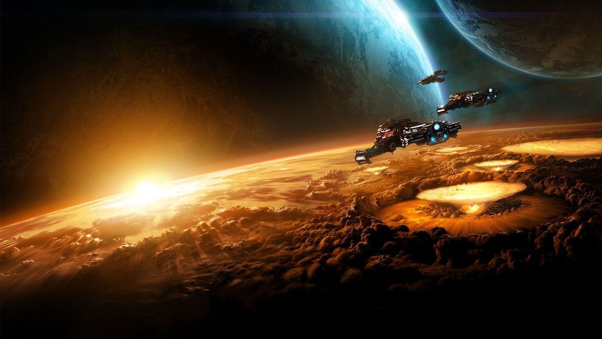 spaceship wallpaper widescreen design ideas alien