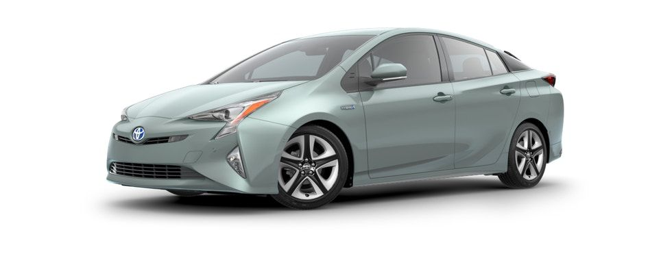 2018 Prius Sea Glass Pearl Side Front View Toyota Prius Hybrid