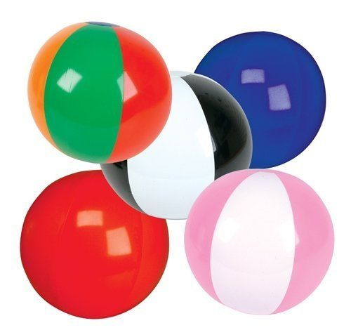 """48 MULTI COLORED BEACH BALLS 12/"""" Pool Party Beachball NEW #AA6 Free shipping"""
