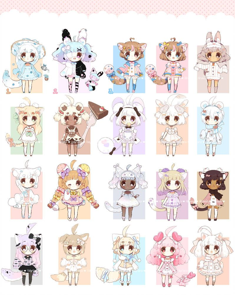 [CLOSED] Collab Chibi batch with Hinausa by Valyriana