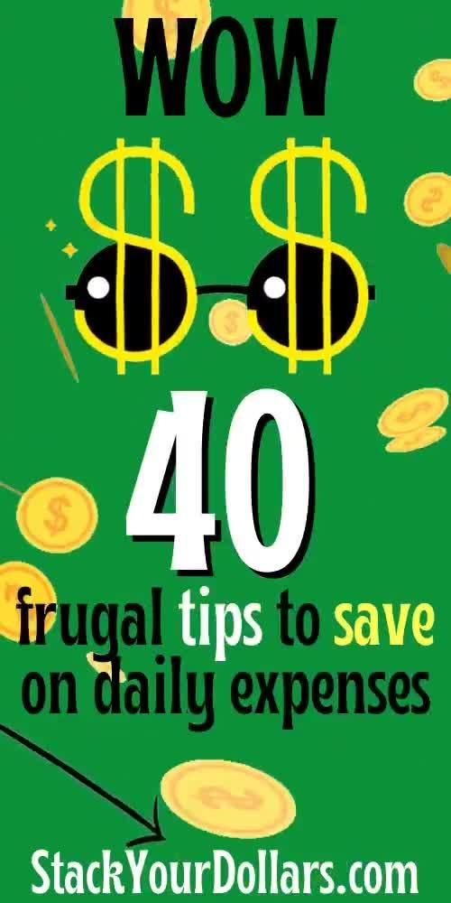 Are you ready for these frugal tips for saving money? I've shared 40  helpful hints for frugal living that you need to check out RIGHT NOW! You can really change your life and financial situation by spending less money on your expenses and saving as much money as you can. You can learn how to get out of poverty and make a meaningful change for your family! #savemoney #spendless #frugalliving #personalfinance #stackyourdollars #frugaltips