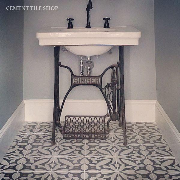 Bathroom Remodel Fantasies Encaustic Tile Sewing Machine Cabinet Sewing Table Sewing Machine Tables