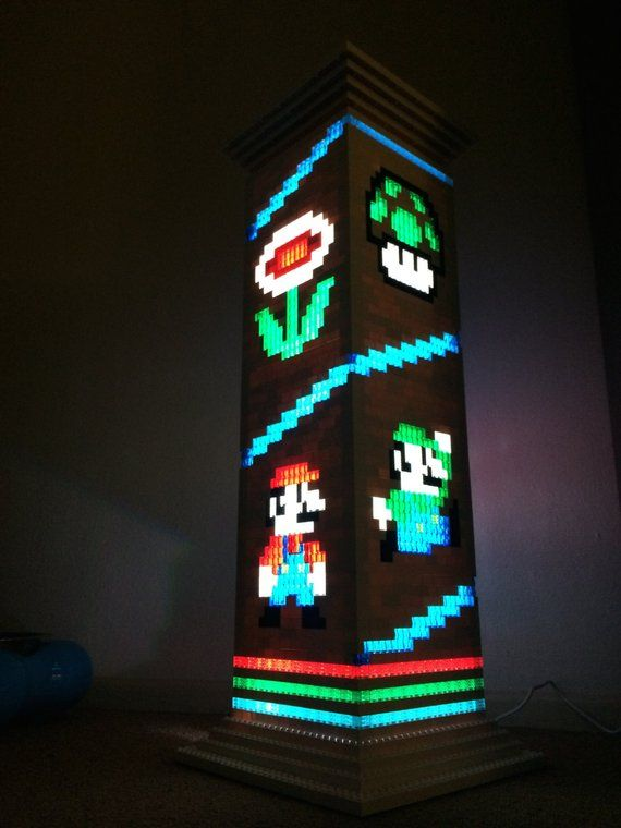 Mario Brothers Themed Lego Lamp Night Light Products