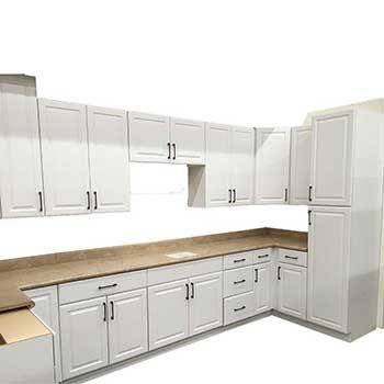Euro White Cabinets | Oak kitchen cabinets, Frameless ...
