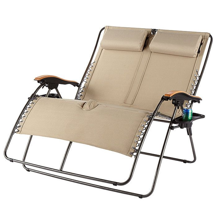 Built for two! This super-comfortable seat reclines as much or as little as you like.