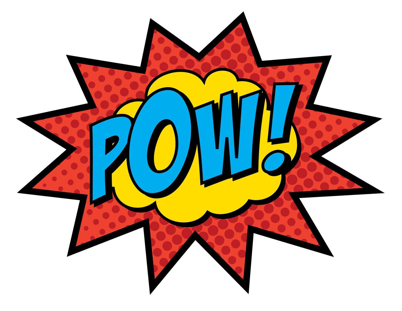Superhero Party Signs • Boom, Pow, Zap, Bam, Pop • 8.5 x 11 • PC ...