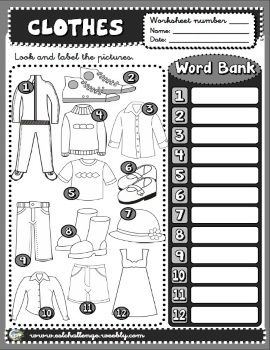 Clothes worksheet | inglese | Pinterest | English, Clothes and ...