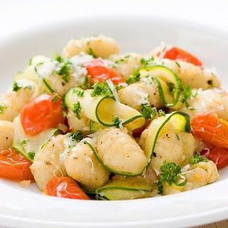 Gnocchi with Summer Vegetables.  This looks beautiful.  A light, filling dinner.