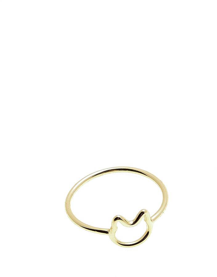Love Gang Gold Cat Ring