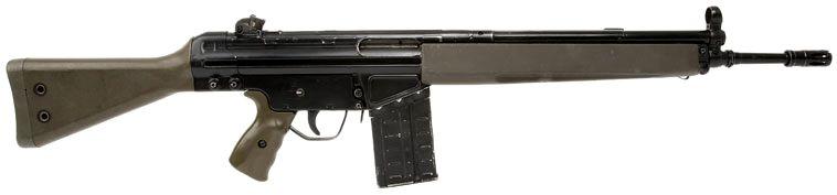Heckler & Koch G3A3 Caliber: 7,62 x 51 mm Capacity: 20 ...