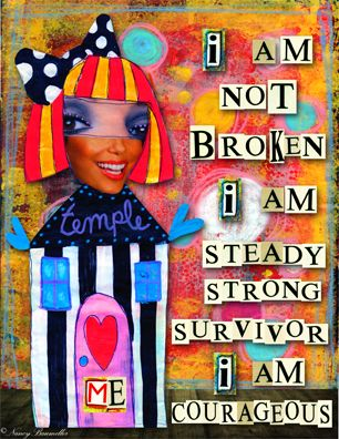 Day 40 - I AM not Broken! 365 Days of Spirit Art Journaling for Artists project - by Nancy Baumiller ©2016 All Rights Reserved