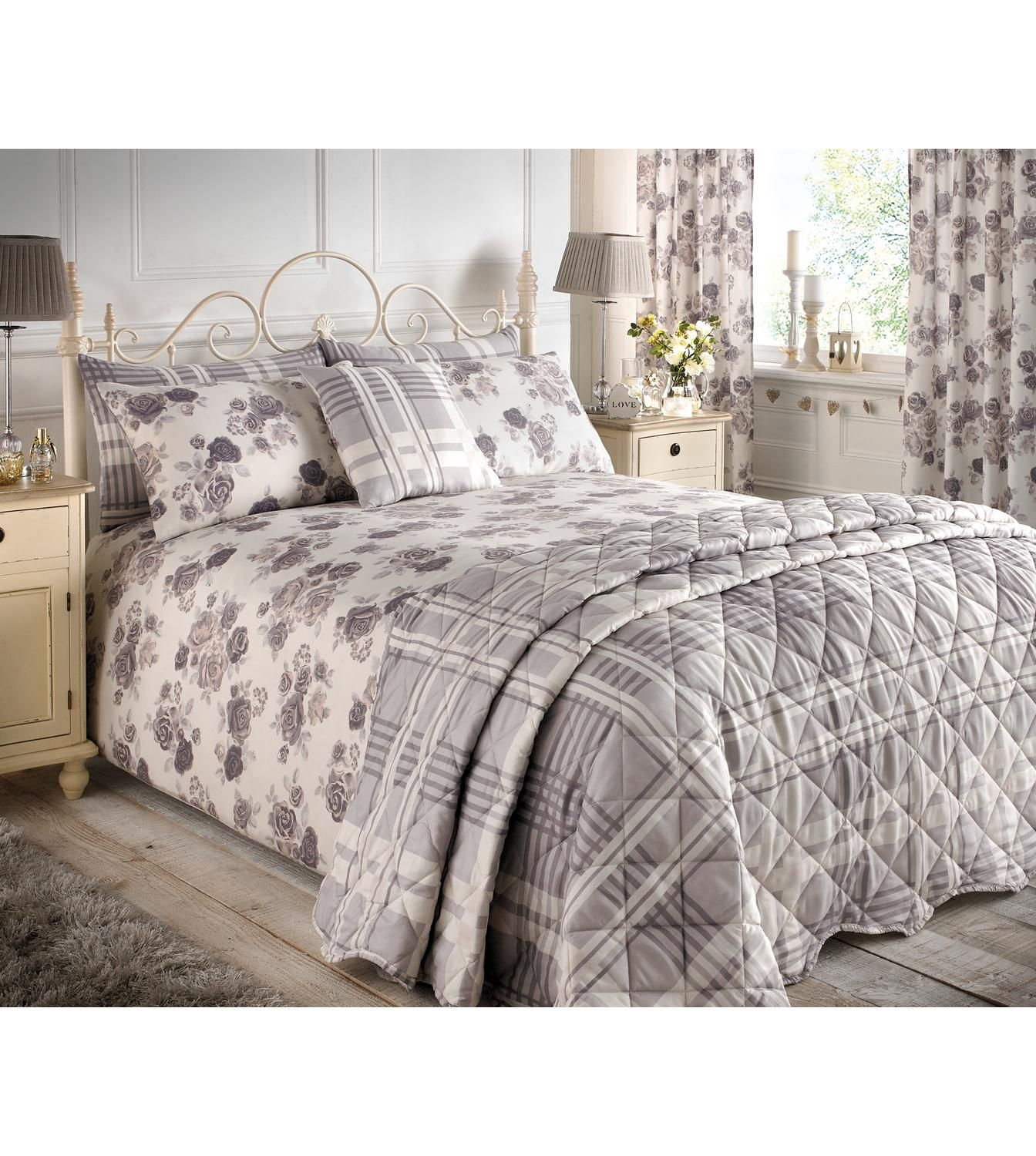 AW17 Studio Romantic Floral Bedding Set & Curtains from