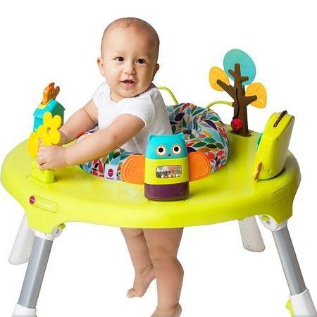 Oribel Portaplay 4 In 1 Foldable Activity Center Forest Friends Baby Activity Center Infant Activities Baby Exersaucer