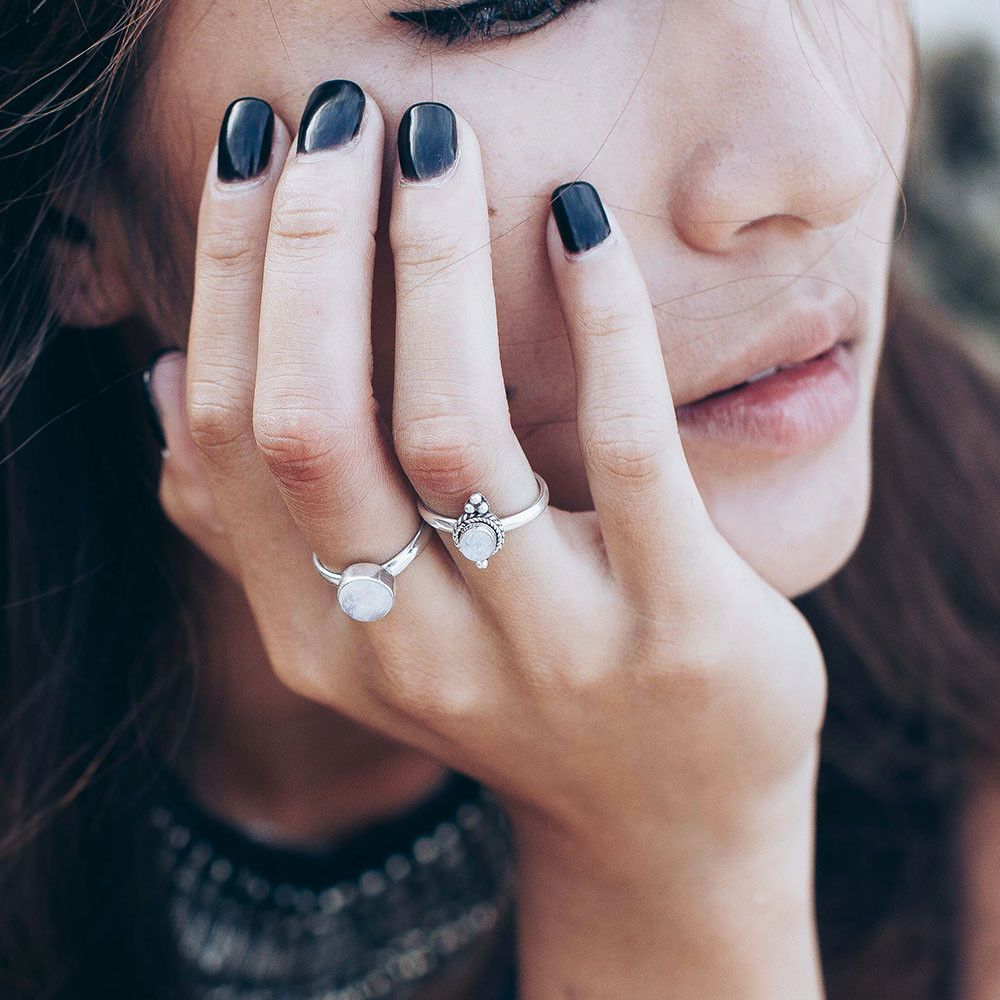 """Shop our brand new """"Hunter"""" collection in store now!   www.shopdixi.com   boho // bohemian // pattern // jewellery // jewelry // rings // hippie // sterling silver // mystic // warrior // moonstone // grunge // gothic // stone // thumb ring // shop dixi"""