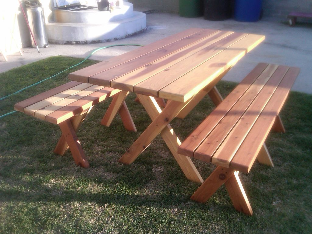 Picnic Table With Detachable Benches