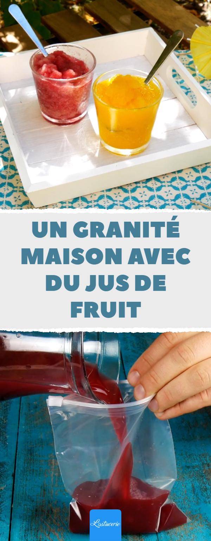Idée DIY  un granité maison avec du jus de fruit glaçon granité ...