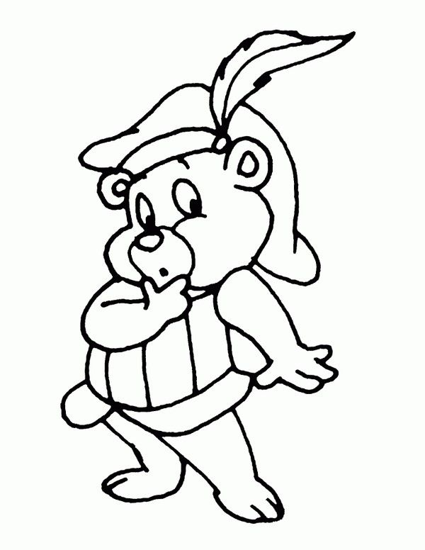 Gummi Bears Coloring Pages 4 Bear Coloring Pages Bear Sketch