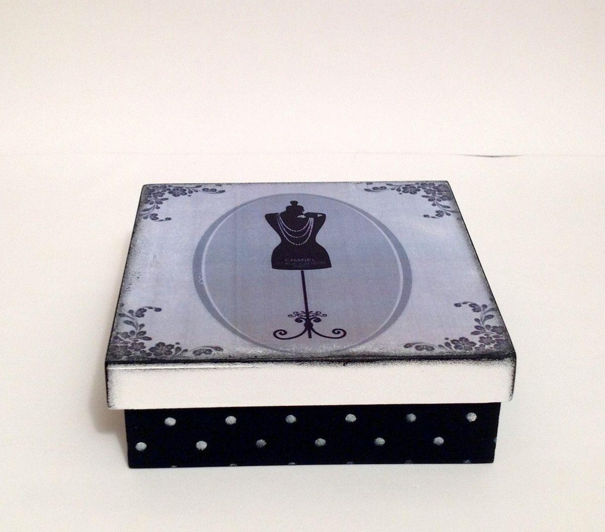 Caixa em mdf - Manequim Chanel | Atelier Marcia Campos | Elo7
