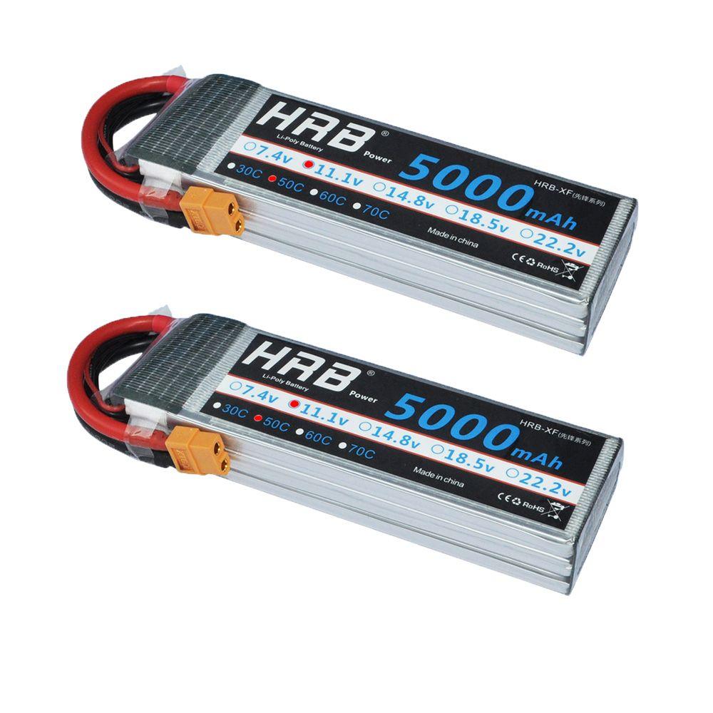 2 stks HRB RC Lipo 3 S 5000 mAh 11.1 v 50C 100C RC LiPo