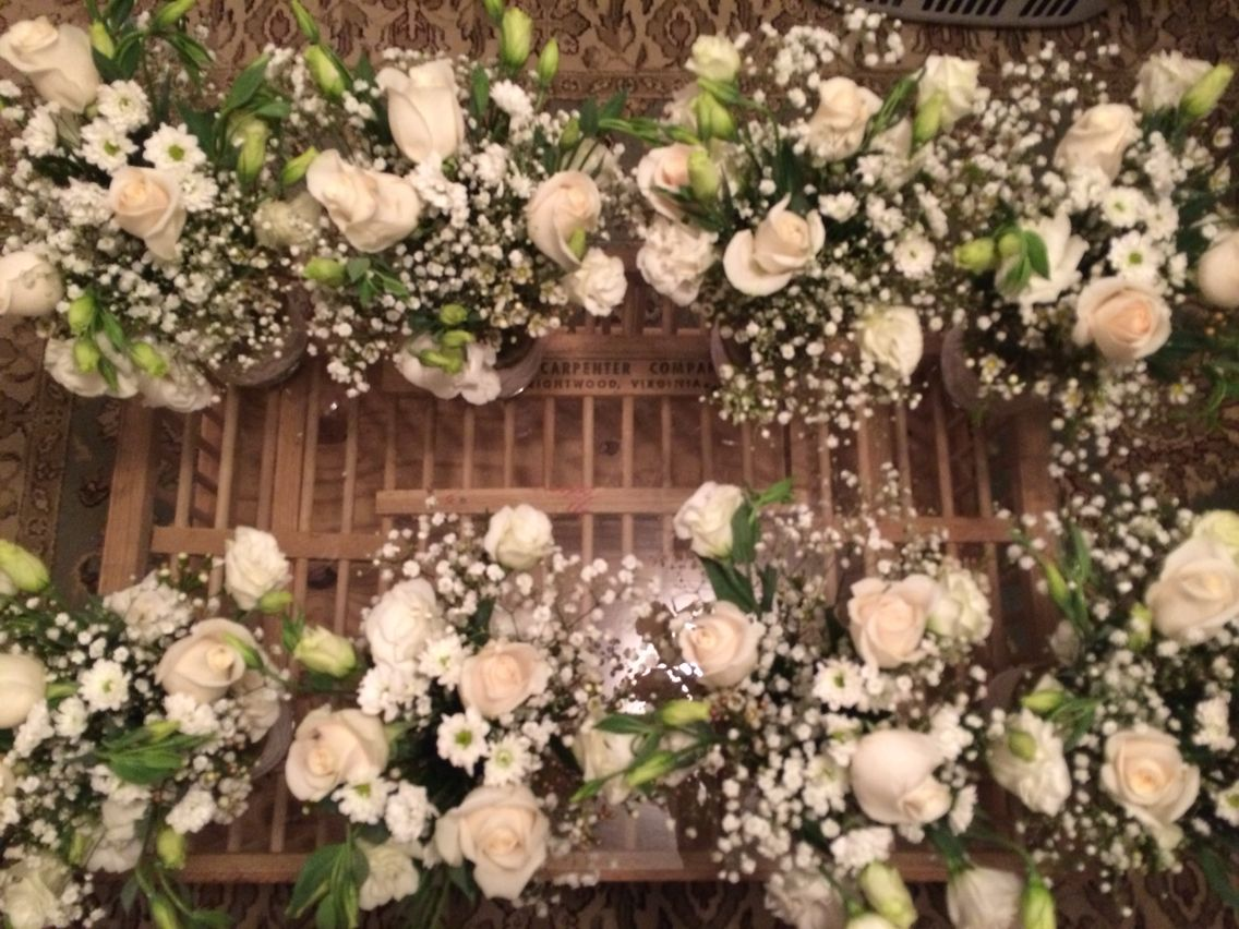 Flowers arrangements for our engagement party thanks to my