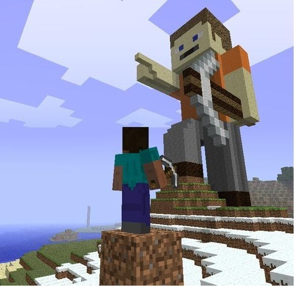 Steve Statue 001   Minecraft statues   Minecraft architecture