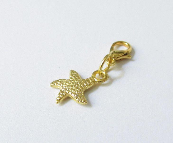 Charms - Charms Anhänger vergoldet Seestern - ein Designerstück von soschoen bei DaWanda