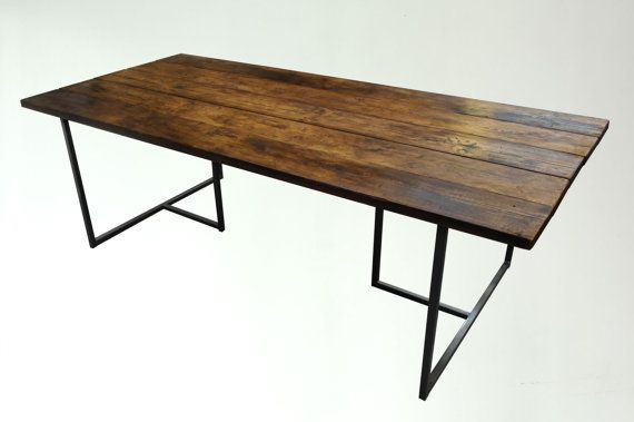 T-BAR DINING TABLE - Industrial Style - Matching Benches Available