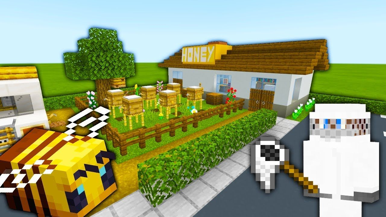 Minecraft Tutorial How To Make A Bee Farm Honey Farm 2019 City Tutorial Youtube Minecraft Farm Minecraft Tutorial Minecraft Blueprints