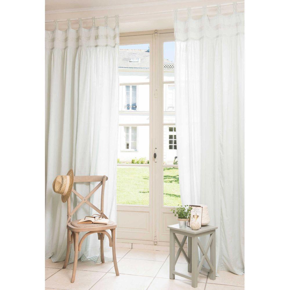 Vorhang aus Baumwolle grün 105 x 250 cm GARANCE