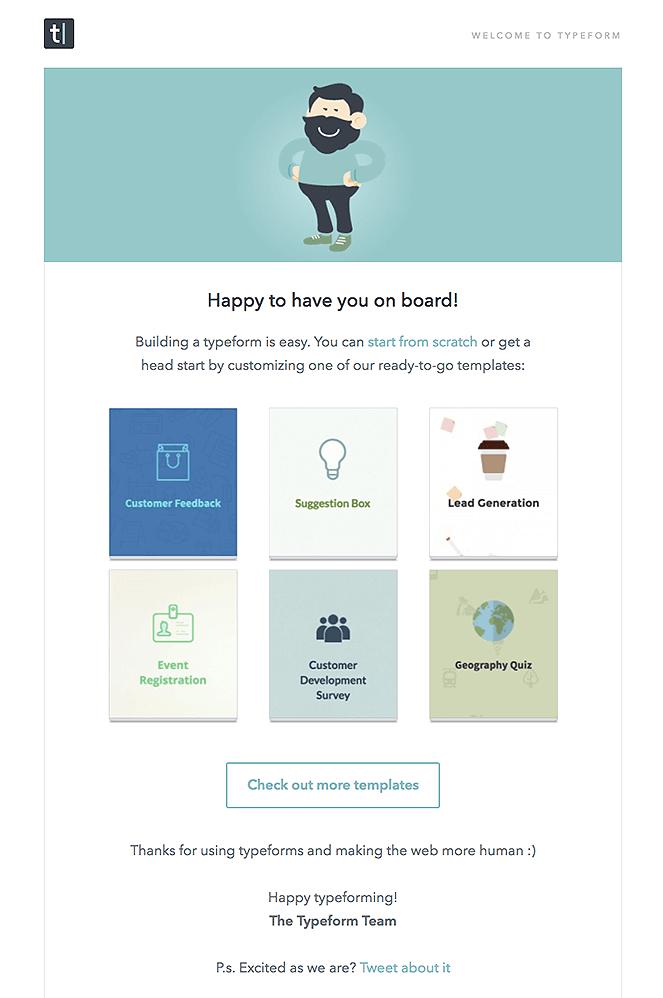 TypeformWelcomeemail  Blogging Tips