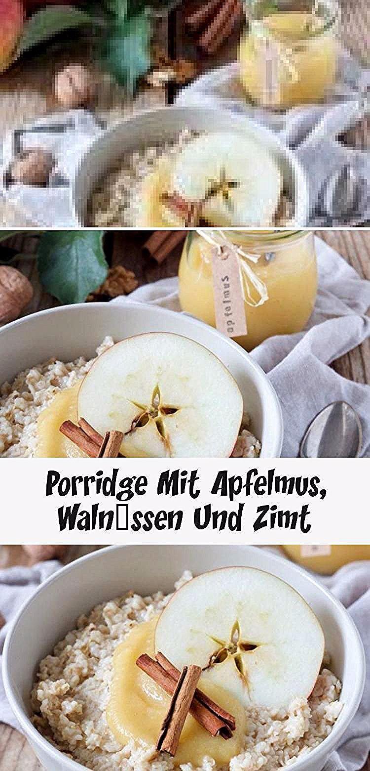 Porridge Rezept - Porridge mit Milch, selbst gemachtem Apfelmus, Walnüssen und Zimt. // Porridge with homemade apple sauce, walnuts and cinnamon, the perfect breakfast on cold winter days. // Sweets & Lifestyle®️️ #porridge #apfelmus #rezept #haferflocken #gesund #milk #apfelmusporridge #breakfast #recipe #applesauceporridge #winter #vegetarianrecipe #sweetsandlifestyle #GesundesEssenMuskelaufbau #GesundesEssenFamilie #GesundesEssenSpinat #GesundesEssenZunehmen #GesundesEssenVegan