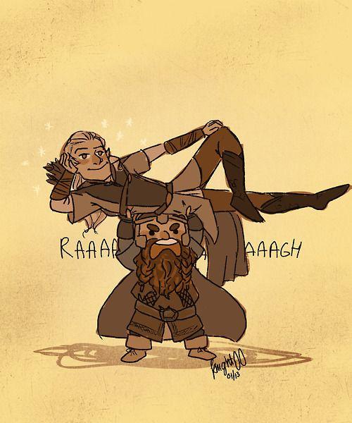 Legolas and Gimli! my favorite characters besides Pip ...