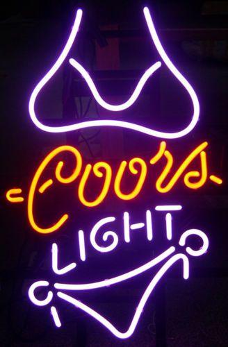 Coors light purple bikini neon light beer pub bar billiards game coors light purple bikini neon light beer pub bar billiards game room sign aloadofball Choice Image