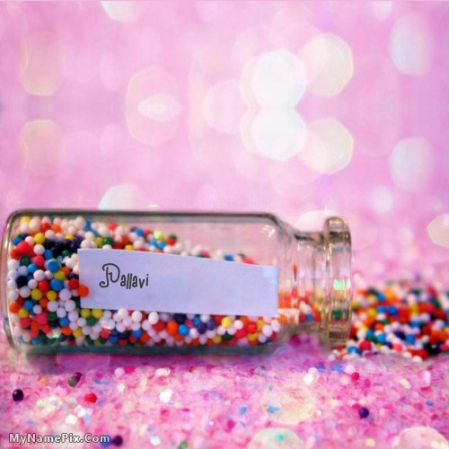 The Name Pallavi Is Generated On Wish Jar With Name Image
